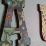 Audree Letters Multi Color
